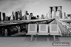 Fotomural Puente Brooklyn. Ideas decoración academia de inglés #decoración #academia #inglés #ideas #vinilo #TeleAdhesivo