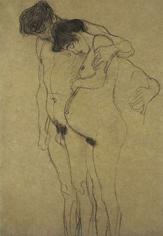 Klimt. So in love with this sketch.