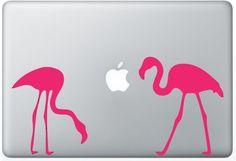 Flamingos laptop DECAL- macbook iPad computer- Gadget Art / Accessory - pink flying zoo Geek Chic p Macbook Decal, Macbook Case, Laptop Decal, Laptop Stickers, Flamingo Art, Pink Flamingos, Computer Gadgets, Pc Computer, Pink Laptop