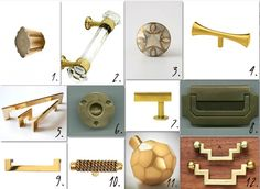 brass hardware sources hardware-etc Kitchen Hardware, Bathroom Hardware, Home Hardware, Brass Hardware, Hardware Pulls, Furniture Inspiration, Design Inspiration, Kitchen Redo, Furniture Decor