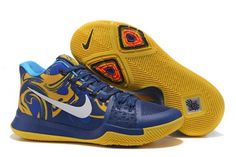 4b738e7d9bf Newest Nike Kyrie 3 Blue Yellow PE Vs Wizards - Mysecretshoes Adidas Nmd
