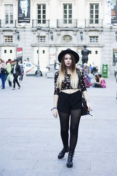 Oasap Hat, Double Agent Top, Shana Shorts, Urban Outfitters Boots, Just Fab Bag