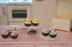 Shabby Chic Miniature Doll House Cupcakes to by SweetPetiteShoppe, $8.50