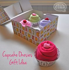 These cute Cupcake Onesies are such a gorgeous idea for a homemade baby shower gift!