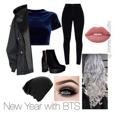 """""""Bts Inspired outfits"""" by jungkookwifeuoml on Polyvore featuring ASAP, Lime Crime and Balmain"""