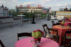 limegreen wedding reception | Wedding reception at new rooftop venue in Nashville