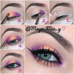 eyeshadow eyeliner diy \ eyeshadow to eyeliner diy ; diy eyeliner from eyeshadow ; diy eyeliner with eyeshadow ; diy eyeliner from eyeshadow how to apply ; diy liquid eyeliner with eyeshadow Makeup Eye Looks, Eye Makeup Steps, Cute Makeup, Gorgeous Makeup, Pretty Makeup, Makeup Goals, Makeup Inspo, Makeup Art, Makeup Inspiration