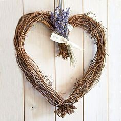 willow lavender heart