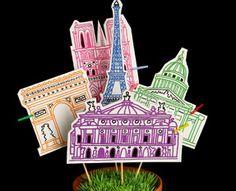 monuments de Paris- dessin à télécharger (à la base c'est une chasse au trésor)