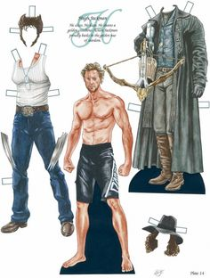 PD070 Hugh Jackman paper doll