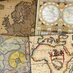 Vintage Maps Digital Paper Vintage And Antique Maps Of Europe - Buy vintage maps