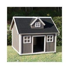 Manor Dog House Large Backyard Wood Garden Pet Bed Shelter Kennel Outdoor Bed #PrecisionOutback