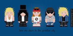 Guns N' Roses - PixelPower - Amazing Cross-Stitch Patterns