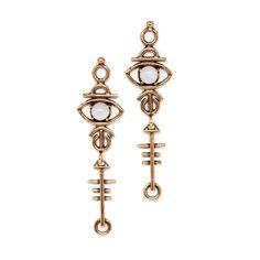 Sulis Earrings || moonstone | lapis | turquoise | red jasper