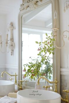 French Country Cottage : Fabulous Bathroom Project bathroom #vintage #home #mirror #decoration