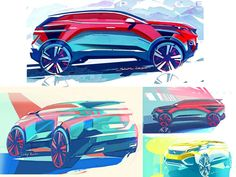 Peugeot 3008 and 5008: design sketches and photos  posted by Gilles Vidal and Romain Bucaille
