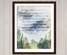 The Road Goes Ever On poem by J.R.R. Tolkien  I have been doing Elvish translations for several years, one of my favorite things to offer!  International shipping costs are higher for 16x20 sets as they are quite heavy. This has been calculated into the 16x20 INTERNATIONAL listing - if you are not a US buyer please use this option :)  Priority upgrades will ship next business day.  All posters are printed on high quality luster finish paper, using archival inks with colorfastness of up to…