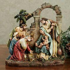 Holy Family Nativity Scene Figurine by Roman Nativity Creche, Christmas Nativity Scene, Christmas Love, Christmas Holidays, Christmas Crafts, Christmas Decorations, Nativity Scenes, Christmas Printables, Catholic Gifts