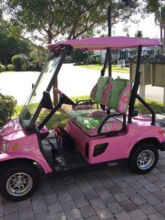 Lilly Pulitzer Golf Cart