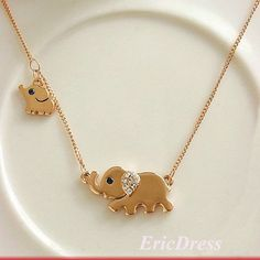 I loved this little elephant the second I first saw it, but then I saw the baby elephant and fell in love even more. Pin-board by Asher Socrates ♥️ Similar ones for $24 at @SPARKTREND, click the image to see! #womens #fashion #jewelry #accessories