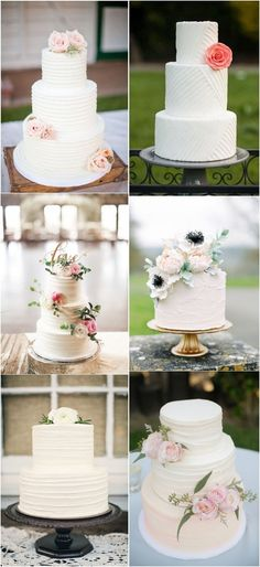 chic and eye-catching wedding cake ideas