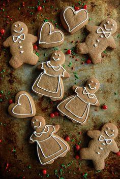 Gluten Free Vegan Gingerbread Cookies   @heatherchristo