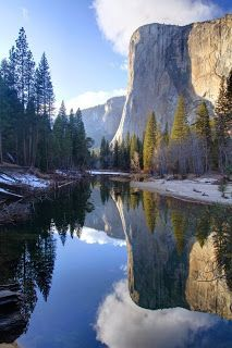 Yosemite - I was here and it IS THAT beautiful.  Mirror Lake.