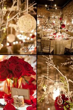 Red And Champagne Wedding Ideas Google Search