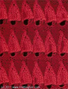 Embossed Bell - Knittingfool Stitch Detail