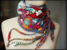 Tricotcolor: Photos de l'écharpe sans nuages...