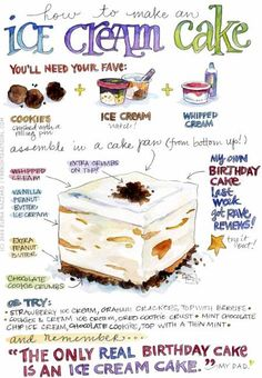 How to Make an Ice Cream Cake ♥ Vanilla Vignettes