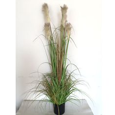 Onion grass artificial silk plant with planter 3 feet silk artificial plants onion grass workwithnaturefo