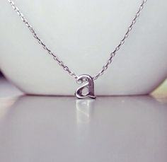 Mini, Lowercase Initial Charm Necklace ~ Personalized Letter Necklace - Perfect gift for best friends, daughters & mothers