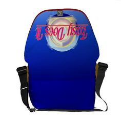 EASY DOES IT logo style courier bag from Jan4insight* on Zazzle