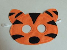 Tiger Felt Animal Mask perfect for pretend play by danijodesigns