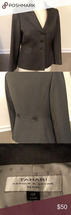Tahari Arthur S. Levine Petite Gray Jacket New without tags, excellent quality.  Size 10 Petite. Tahari Jackets & Coats Blazers