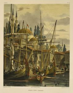 BARQUES ET CAIKS, CONSTANTINOPLE / Eugene Flandin