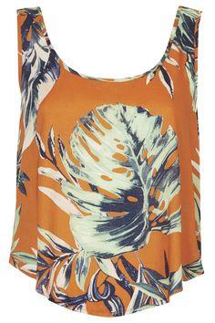 Bright Leaf Print Vest - New In This Week - New In - Topshop