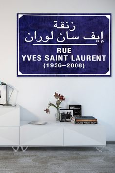 Oliver Gal Rue in Marrakech Canvas Art on HauteLook | fashion wall art | navy and white