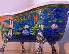 thegoldenboymosaic. Mosaic tub