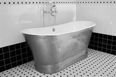 The Peak of Très Chic: Not Your Grandma's Tile + Bathroom Update Pedestal Tub, Countertop Options, Clawfoot Bathtub, Bed & Bath, Bathroom Inspiration, Tubs, Don't Worry, Master Bath, Baths