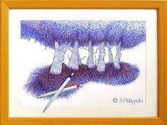 #Arbres #Tableau #Spiro_Philippidis #Illustrateur #Illustration #Peinture #Paint #Painting #illustrator #Artist #Artiste #Peintre #Illustrateur #Philippidis #演艺人员  #例证 #Abbildung #Künstler #Suisse #Schweiz #Switzerland Illustrations, Hand Fan, Switzerland, Artist, Painting, Watercolor Painting, Drawings, Photography, Illustration