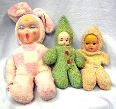 Three Vintage Rubber Faced Baby Dolls