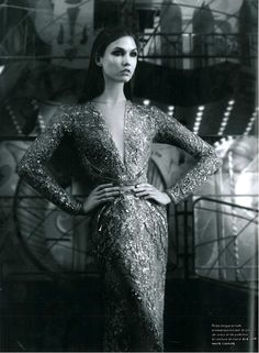 Karlie Kloss in ELIE SAAB Haute Couture Autumn-Winter 2012-13 shot by Karl Lagerfeld and styled by Rebecca Bleynie & Vanessa Metz for the September issue of Numero.