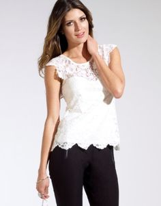 Lipsy Lace Cap Sleeve Top