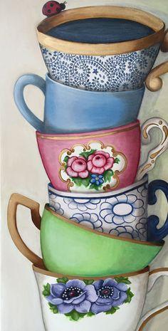 Voorjaar in huis met een vrolijk schilderstuk aan de muur!