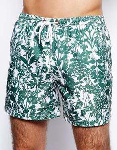 Jack Wills Herb Print Swim Shorts