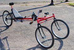 only uses standard bike parts,   Underseat steering recumbent trike.
