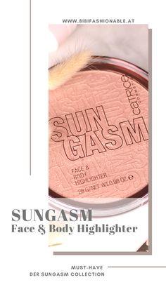 Aktuell tummelt sich in der CATRICE Cosmetics Theke die SUNGASM Limited Edition. Besonderes Augenmerk solltet ihr auf den gigantischen Face & Body Highlighter legen. Er überzeugt durch deine großartige Pigmentierung und den wunderschönen Glow. #CATRICECosmetics #crueltyfree Minimalist Nails, Beauty Review, Liquid Lipstick, Face And Body, German, Make Up, Cosmetics, Group, Board