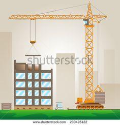 Стоковые фотографии, изображения безлицензионных платежей и векторные изображения— Shutterstock. #vector, #graphic, #construction, #crane, #house